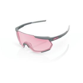 100% Racetrap Gafas, soft tact stone grey/hiper multilayer mirror